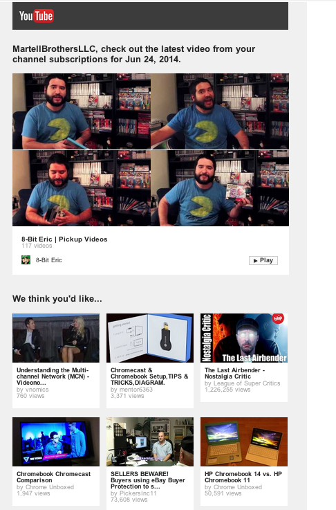 YouTube's newsletter