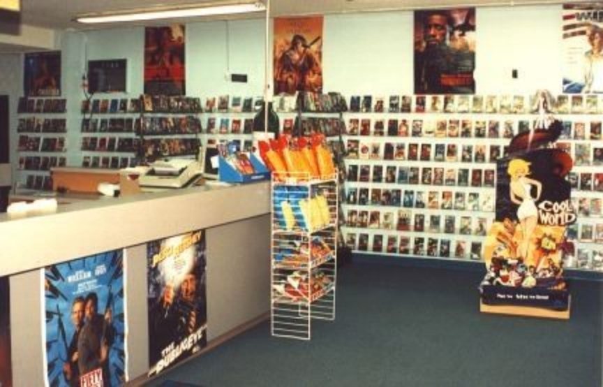 lamenting the death of the small town video rental store